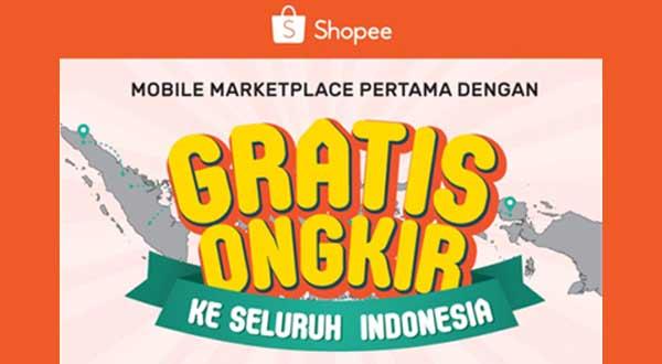 Ilustrasi Shopee Sebagai Mobile Marketplace Pertama dengan Promo Gratis Ongkir ke Seluruh Indonesia